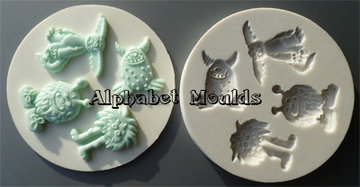 Alphabet Moulds Little Monsters