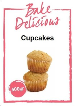 Bake Delicious Cupcakemix 500 gram