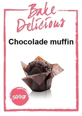 Bake Delicious Chocolade muffin 500 gr.