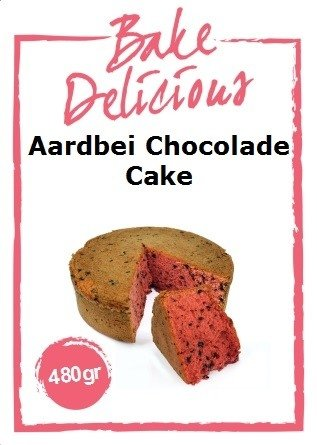 Bake Delicious Aardbei Chocolade Cake 480 gr.