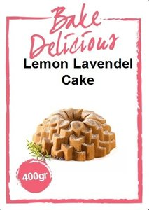 Bake Delicious Lemon Lavendel Cake 400 gr.