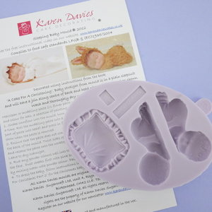 Karen Davies Siliconen mould - Sleeping Baby & Pillow